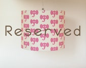 RESERVED FOR MIGGYMAMA Lampshade with pink elephants and 1 yrd of fabric