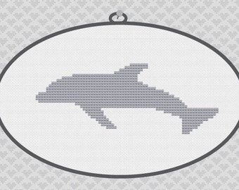 40% OFF code: CYBERMONDAY40- Dolphin Silhouette Cross Stitch PDF Pattern