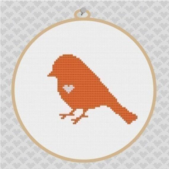 Bird Silhouette Cross Stitch PDF Pattern I