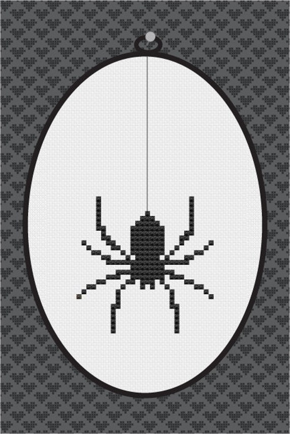 Spider Silhouette Cross Stitch Pdf Pattern I