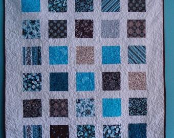 Teal and brown quilt | Etsy : teal and brown quilt - Adamdwight.com