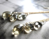 SALE Statement Earrings, Jewelry Earrings, Lemon Quartz Gemstone Earrings, Dangle Earrings,  Luxe Jewelry