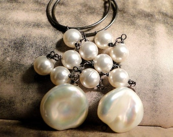 Jewelry, Wedding Earrings Creamy White Freshwater Pearl Earrings, Gift for Her, Wedding,  Luxe Pearls, Holiday Gift, Accessories