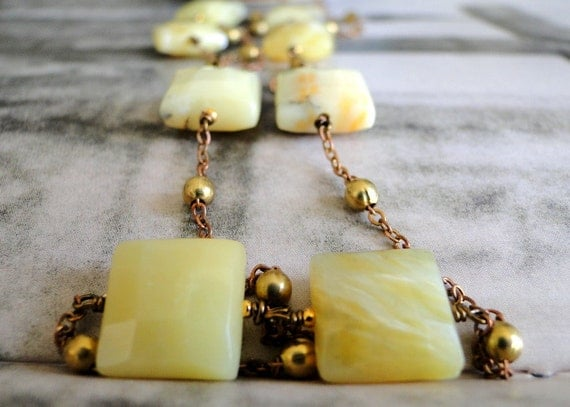 RESERVED Jewelry - Butter Yellow Faceted Opal Necklace, Layering Piece, Long Necklace, Opal, Gift for Her, Accessories