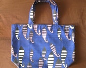 african print large reusable tote bag.