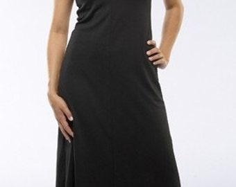 Black  V Neck Travel Dress