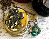 Davy Jones Locker Compass Locket Necklace