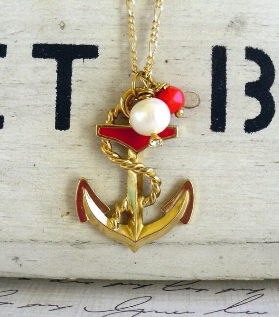 Ahoy Vintage Anchor Necklace