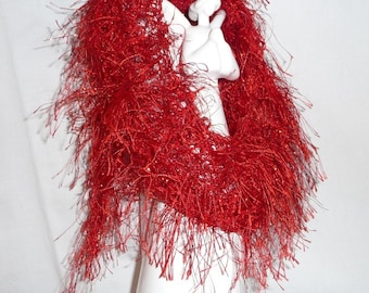 Popular items for red eyelash yarn on Etsy