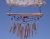 Wind Chimes with Obsidian Needles and Bull Canyon Agate