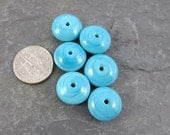 Turquoise Disk Beads - Set of 6