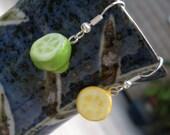 Lemon Or Lime - Polymer Clay Lemon and Lime Earrings