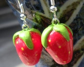 Strawberry Time - Polymer Clay Strawberry Earrings