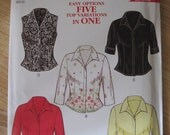 NEW LOOK 6952 - UNCUT Pattern - Misses' Top 5 Variations/Sz 8-18