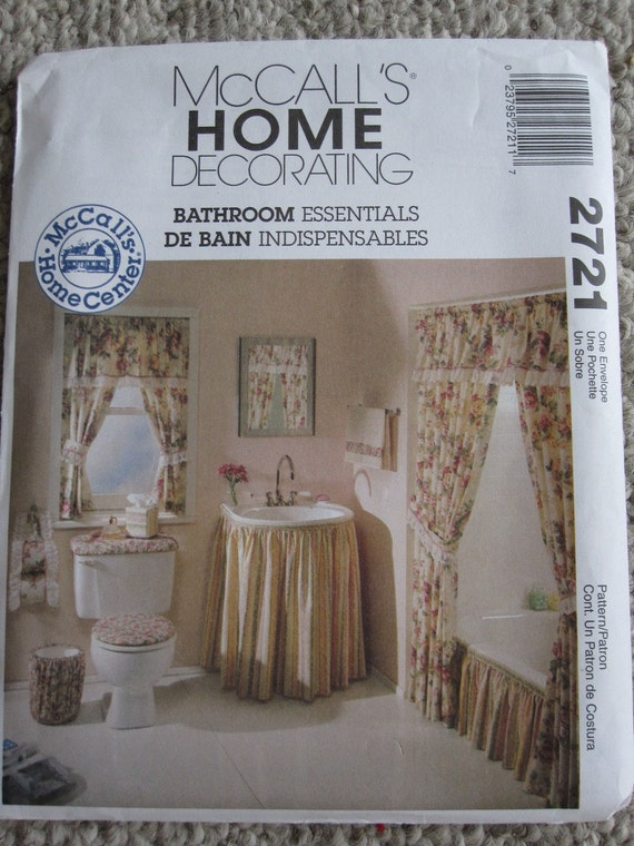 Mccalls 2721 Uncut Pattern Home Decor Bathroom
