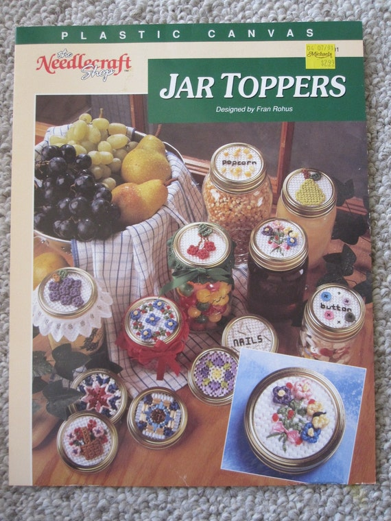 Plastic Canvas Pattern Book - Jar Toppers - Various Designs