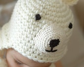 Polar Bear Hat for   6 to 12 Months  and 12 to 24 Months babies