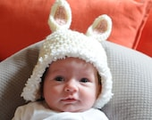 White Bunny Rabbit Hat  for 6 to 12 Month and 12 to 24 Month Babies