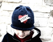 Reserved Listing Love Mom Navy Winter Hat