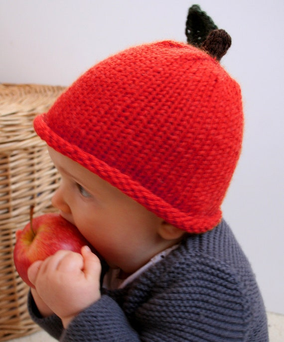 Newborn Apple Hat Available size up to 3 Months Babies