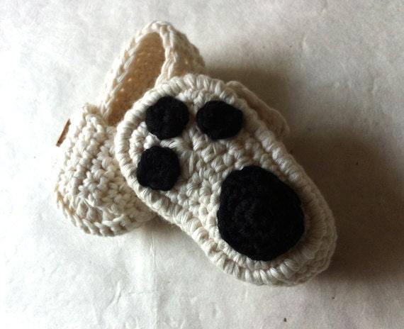Polar Bear Paw Baby Moccasins