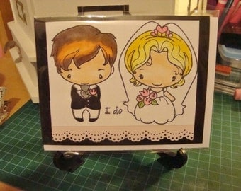 I DO wedding greeting card