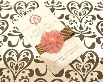 Pretty maroon flower hair clip
