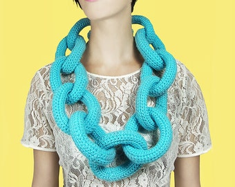 LAST CHANCE SALE Cool Turquoise Giant Bling Bling Chain
