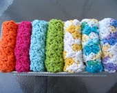 Set of 7 Crochet Cotton Dish Cloths