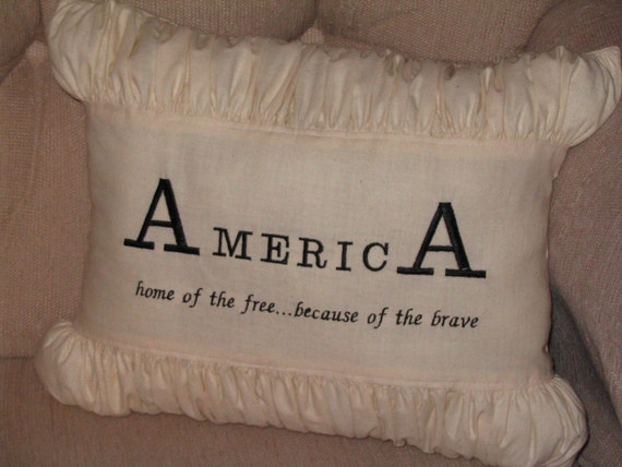 AmericA - Home of the Free Because of the Brave Pillow