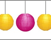 Pink Lemonade Chinese Paper Lantern Set