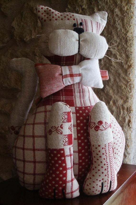 Stuffed cat ornament/Doorstop