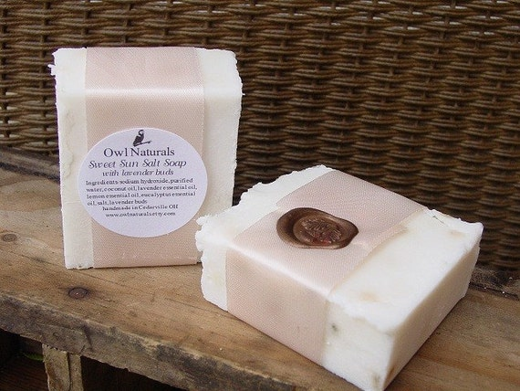 Sweet Sun Luxury Salt soap with lavender buds-vegan