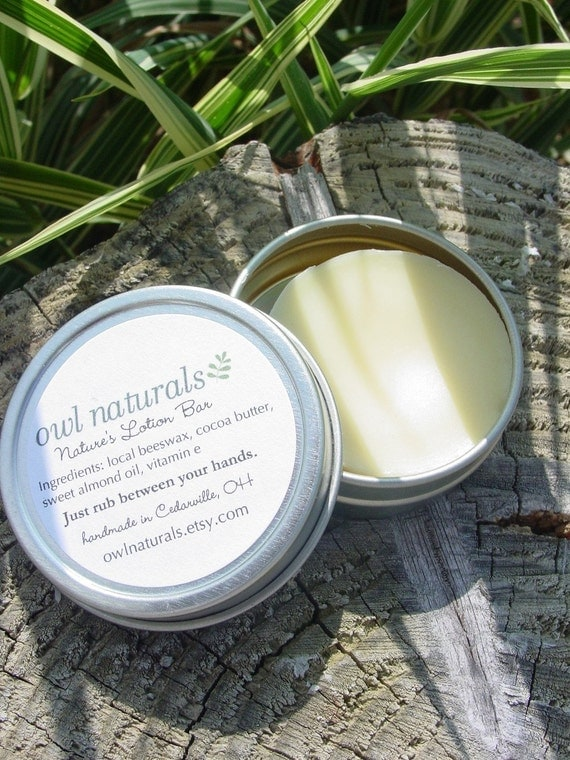 Orange Anise Nature's lotion bar-made with local beeswax