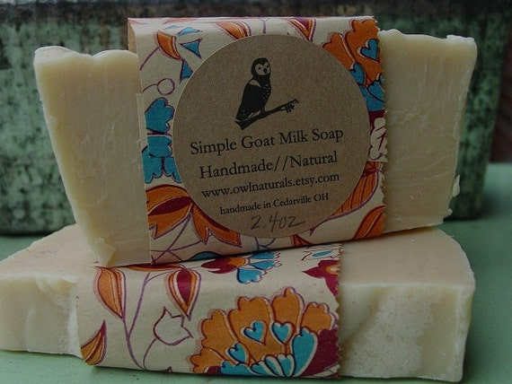 Simple Goat Milk Soap-made with Olive & Coconut oil