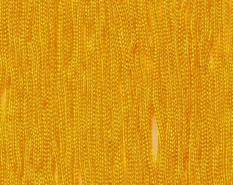 """Chainette Fringe 12"""" in Flag Gold Fabric Trim for Costumes and Dancers 11 yards"""