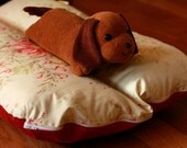 Deluxe Bunbed Dog bed for Dachshunds and other small dogs - Dusty Red Shabby Roses Flowers