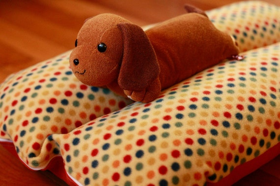 Vintage Retro Colorful Polka Dots Deluxe Bunbed Dog bed for Dachshunds or other small dogs