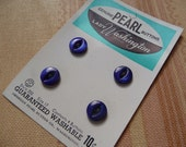 Vintage Blue Mother of Pearl MOP Buttons on Original Card