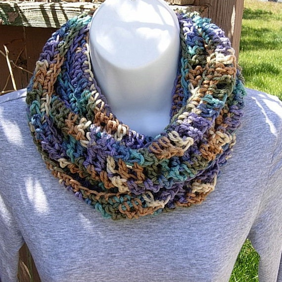 All-Season INFINITY LOOP SCARF..Purple, Tan, Cream, Turquoise, Blue, Green..Soft..Lightweight..Neck Warmer..Cowl..Ready to Ship in 2 Days
