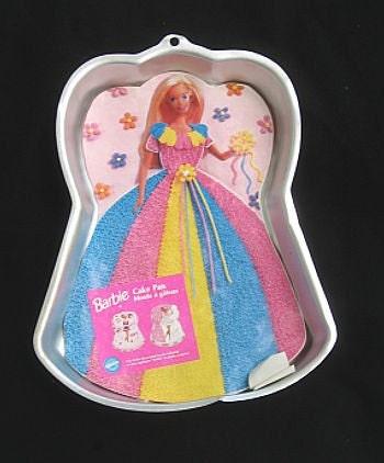 Wilton Barbie Princess Cake Pan Gelatin Jello Mold
