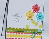 Happy Floral Thinking of You Card