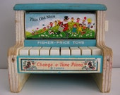Vintage Toy Piano - Fisher Price 910