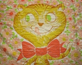 Vintage Bow Tie Kitty Cat Quilt, Twin or Full