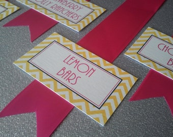 Chevron Candy Buffet Tags