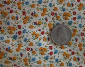 Cotton Calico Fabric, TINY FLOWERS Small Scale Print - nice for dolls - 1 yard