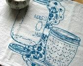 TeaTowel - Screen Printed Organic Cotton Mason Jar Flour Sack Towel - Awesome Kitchen Towel for Dishes