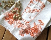 Tea Towel - Screen Printed Flour Sack Towel - Craft Brew - Absorbent Dish Towel - Eco Friendly Cotton - Classic Flour Sack - Kitchen Towel