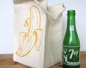 Screen Printed Recycled Cotton Lunch Bag - Reusable and Washable - Eco Friendly and Awesome
