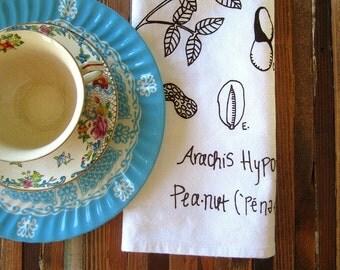 Cloth Napkins - Handmade - Eco Friendly Dinner Napkins - Screen Printed Cotton Cloth Napkins - Washable and Reusable - Botanical